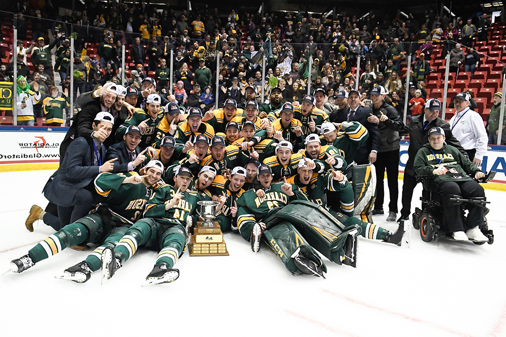 Clarkson Golden Knights Men's Hockey team 2019 championship winners